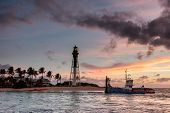 Sunrise Over Atlantic Ocean In Florida.