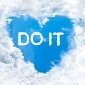 Do It Word Nature On Blue Sky