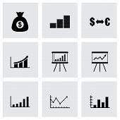 Vector black economic icon set