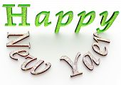 3D Text Happy New Year