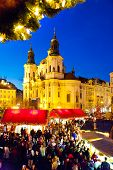 traditional Christmas Market in Prague