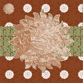 Collage Background Images From Various Brown Plant Natural Patte