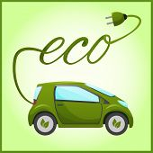 Electric car with eco design