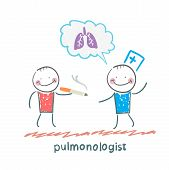 pulmonologist pulmonologist says lung patient who smokes