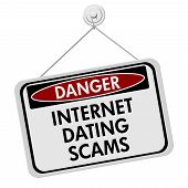 Dangers Of Internet Dating Scams Sign