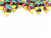 Balloon Frame With Flag Of Mozambique
