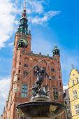 Fountain Of Neptune In Gdansk, Poland