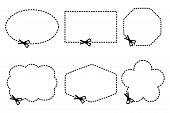 scissors cutting shapes