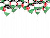 Balloon Frame With Flag Of Palestinian Territory