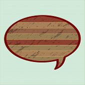 Speech Bubble In Wood Style