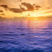 Folly Beach Ocean Sunset Landscape Seascape Scene