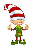 pic of pixie  - A cartoon illustration of a cute Christmas elf character - JPG