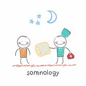 somnology gives the patient a sleep pillow