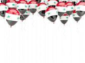Balloon Frame With Flag Of Syria