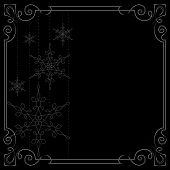Christmas Background. Vector Frame Decorated With Snowflakes