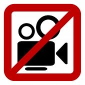 Sign Of Prohibition Of Video Camera