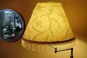 picture of lamp shade  - The shade of the floor lamp in the room - JPG