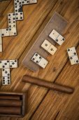Top View On Cuban Cigar And Domino