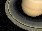 stock photo of saturn  - digital 3d rendering of the planet saturn - JPG