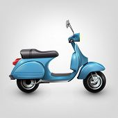 Cool blue scooter