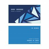 Vector abstract ice chrystals horizontal corner frame pattern business cards set