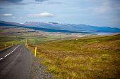 Highway Through Icelandic Landscape