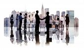 Silhouettes of Diverse Corporate Business People
