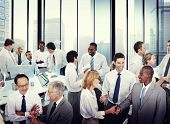 Multiethnic Group of Business People Working in the Office