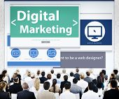 Business People Digital Marketing Seminar Concept