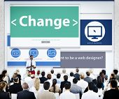 Business People Seminar Change Concept