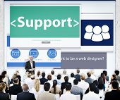Group of Business People Seminar Support Concept