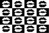 lipstick mark seamless background