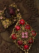 stock photo of brooch  - vintage brooches - JPG