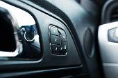 image of lock  - Car Door Lock and Seats Adjustment Memory Closeup Photo - JPG