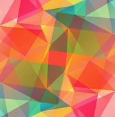 pic of polygon  - Abstract polygonal background with blue and pink triangles - JPG