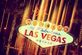 foto of las vegas casino  - Glowing Las Vegas Sign - JPG