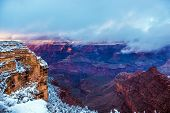 pic of grand canyon  - Winter Season in Grand Canyon National Park in Arizona United States - JPG
