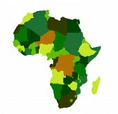 picture of land-mass  - Africa map vector illustration on white background - JPG