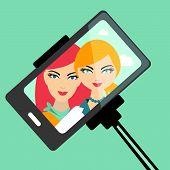 pic of selfie  - Two girls selfie photo - JPG