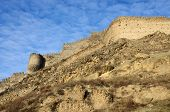 picture of gory  - View of ancient Gori fortress wall - JPG