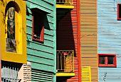 Colourful Houses At La Boca