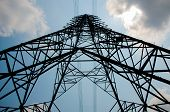 picture of electricity pylon  - big electricity pylon high voltage pole and sky - JPG