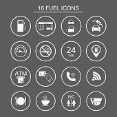 picture of fire-station  - 16 gas station icons - JPG