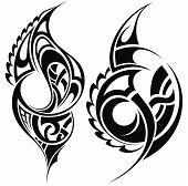 pic of maori  - Tattoo design elements - JPG