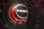 picture of panic  - Panic Controller with Glowing Red Lights on Black Console - JPG