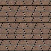 pic of slab  - Brown Paving Slabs in the Form Trapezoids - JPG