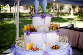 image of catering  - table set for wedding or another catered event dinner - JPG