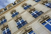 image of bordeaux  - Facade of a classic French building in Bordeaux - JPG