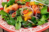 pic of pepper  - Raw salad with vegetables - JPG