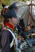 United States Artillery Soldier at War of 1812 Reenactment